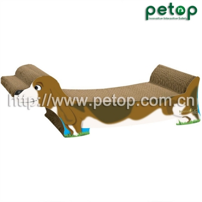 PT1026 Corrugated pet scratcher,cardboard cat bed