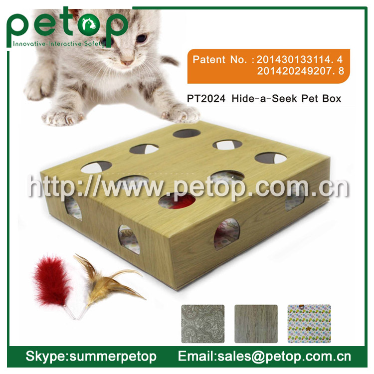 Hide & seek cat toy box