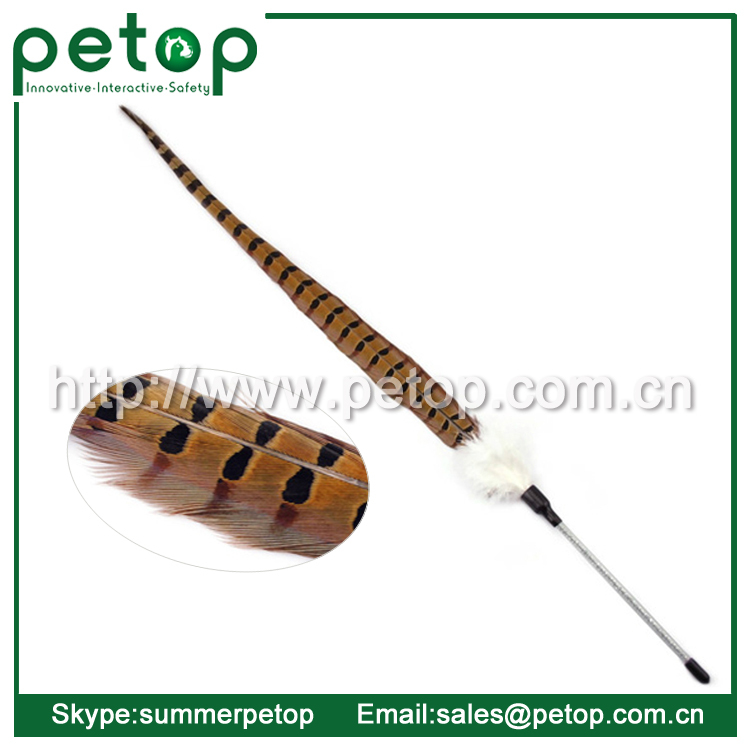 Feather Toys Cat Catcher Teaser Wand